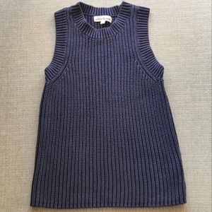 Olive & Oak knit tank in navy Medium fits Small